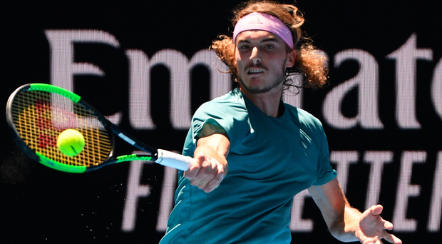Making waves: Stefanos Tsitsipas is on a high after beating Roger Federer and next faces Rafael Nadal in the semi-finals after the Spaniard defeated Frances Tiafoe