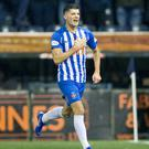 Kilmarnock's Jordan Jones celebrates scoring the winner against Rangers in January.