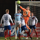 Spot on: Gareth Deane in action for Linfield