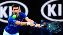 Big hitters: Novak Djokovic is relishing another showdown with great rival Rafael Nadal in the Australian Open final in Melbourne