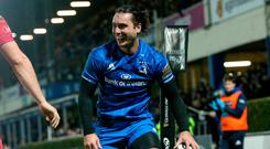 Try that: Leinster ace James Lowe crosses the whitewash