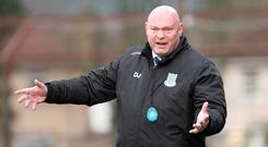 Ballymena's manager David Jeffrey during his side's win over Ards.