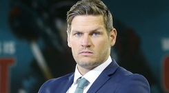Fully braced: Adam Keefe is expecting a tough test