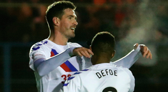 Kyle Lafferty could be set to join Jermain Defoe in the Rangers line-up again this weekend.