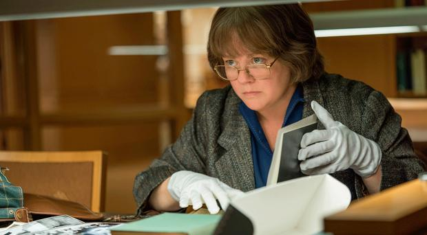 Faking it: Melissa McCarthy as celebrity biographer Lee Israel