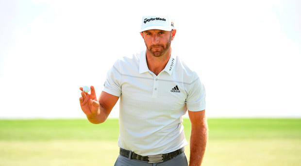 Top spot: Dustin Johnson