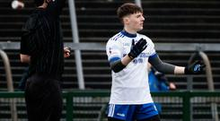 Red alert: Monaghan's Stephen O'Hanlon is dismissed