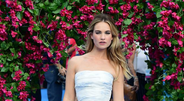 Lily James said she can be 'quite explosive' (Ian West/PA)