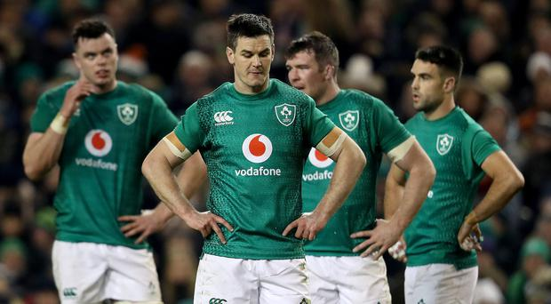 Hit for six: Johnny Sexton contemplates Ireland's Six Nations defeat on Saturday by England