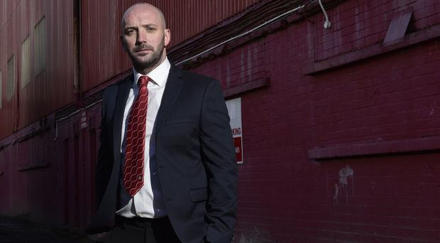 Cliftonville's new manager Paddy McLaughlin.