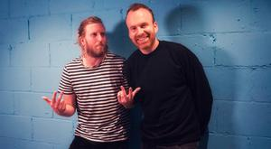 In tune: Matt Haig and (right) Andy Burrows