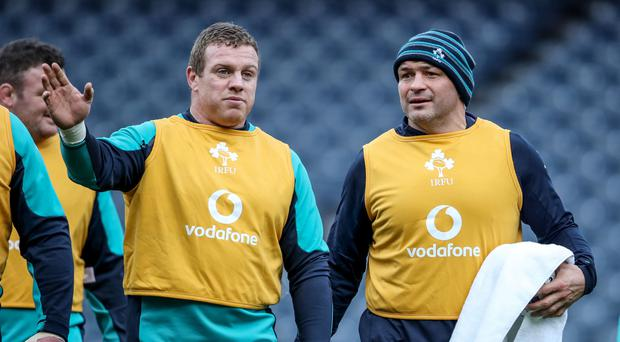 Speak up: Rory Best and Sean Cronin have a chat