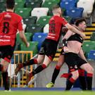 Late twist: Billy Joe Burns rocked his old club Linfield in the Irish Cup last Saturday
