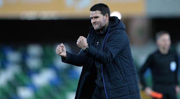 Title chase: David Healy is well aware Coleraine will present a stern challenge for Linfield at Windsor today