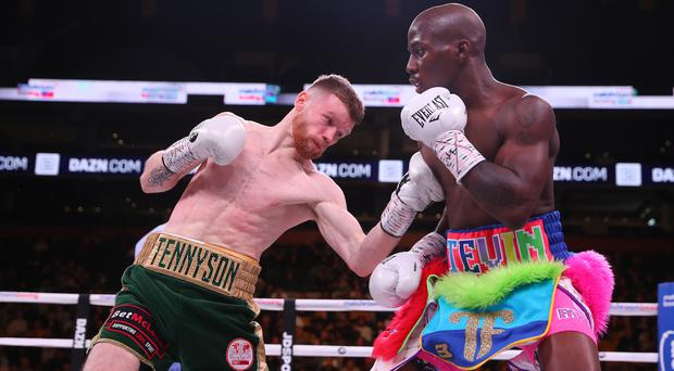 Title bout: James Tennyson in his world title defeat at the hands of Tevin Farmer last year