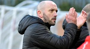 Cliftonville's new Manager Paddy McLaughlin during todays game at Solitude in Belfast