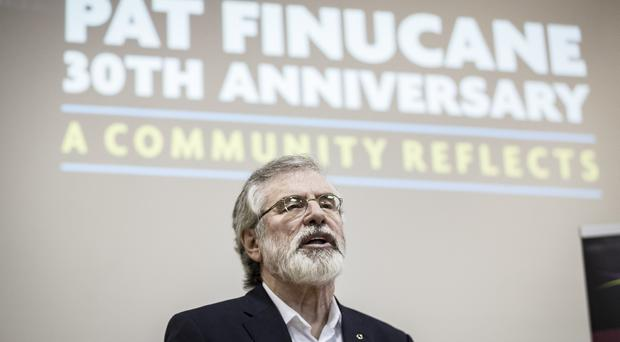 Gerry Adams during the 30th anniversary event held for human rights lawyer Pat Finucane on February 10th 2019 (Photo by Kevin Scott for Belfast Telegraph)