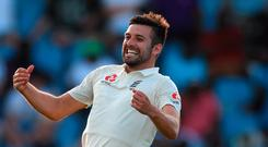 Blistering pace: Mark Wood