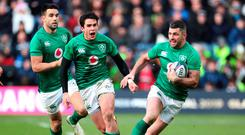 In charge: Rob Kearney (right) has shone at full-back