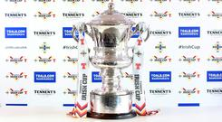 The Irish Cup trophy.