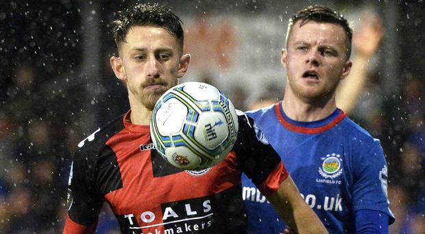 Crusaders and Linfield will go head to head in the County Antrim Shield final.