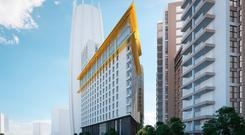An artist's impression of the Paddington hotel complex which McAleer & Rushe are building