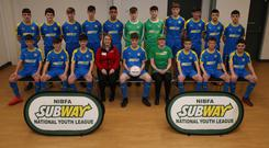 Jetting off: the team representing the Subway NIBFA National Youth League which will compete in the Mayor's Cup in Las Vegas this weekend