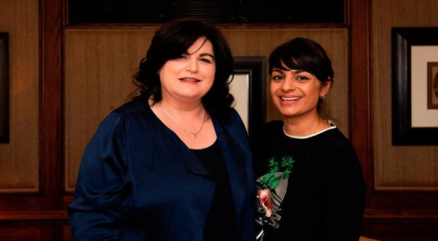 Diana Henry at the Andre Simon Awards 2018 with assessor Meera Sodha
