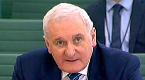 Bertie Ahern, former Taoiseach, giving evidence to the Exiting the European Union Committee in the House of Commons in London. Photo credit: House of Commons/PA Wire.