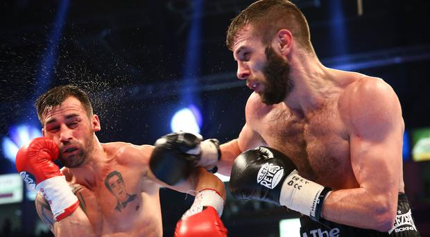 Last chance: Belfast's Anthony Cacace shows the power that makes him a big threat