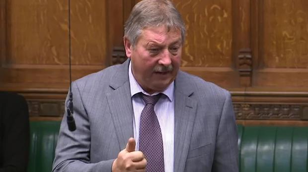 Sammy Wilson in the House of Commons.