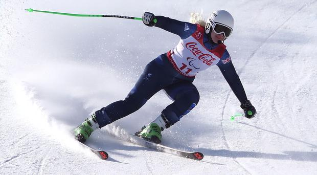 In control: Kelly Gallagher during the 2018 Paralympics in Pyeongchang