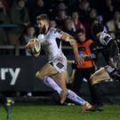 On the break: Stuart McCloskey goes on the run for Ulster