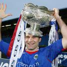 Silver lining: Glenn Ferguson after Linfield's 2008 League Cup win