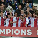 Linfield get their hands on the trophy for the first time since 2008.
