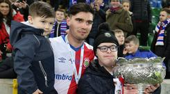 Linfield's Jimmy Callacher was named man of the match.