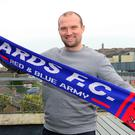 New challenge: Warren Feeney is unveiled as Ards manager at the Strangford Arms Hotel