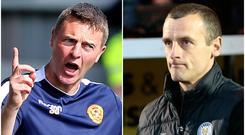 Stephen Craigan (left) has questioned the January transfer business of Oran Kearney's St Mirren.