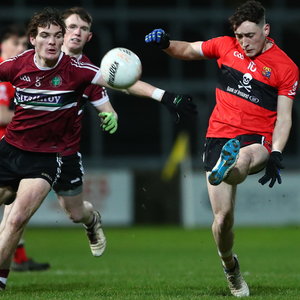 Silver lining: St Mary's Colm Byrne closes down Padraig Clifford