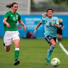 Northern Ireland's Simone Magill (right) and Republic of Ireland's Karen Duggan in action last year.