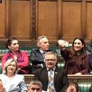 The Independent Group take their seats in the House of Commons.