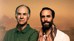 Joseph Fiennes in Egypt with his cousin Sir Ranulph Fiennes