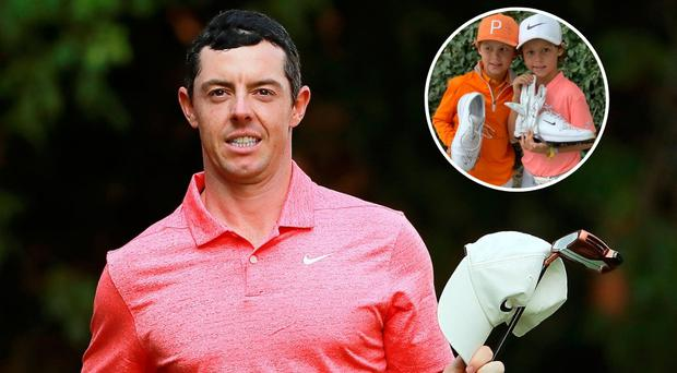 Rory McIlroy had a special surprise for two young fans after his second-place finish in Mexico.