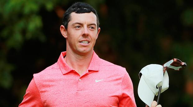 So close: Rory McIlroy just missed out in Mexico to Dustin Johnson