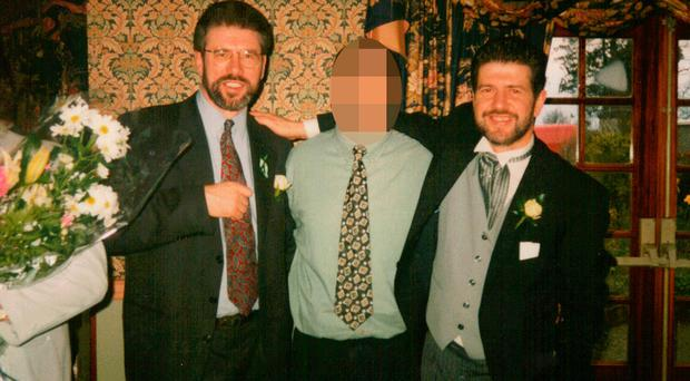 Gerry Adams with his brother Liam at a wedding