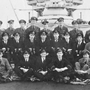 RNAS and RAF airmen on HMS Furious, 1918