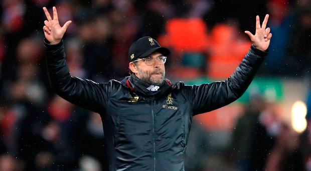 In control: Jurgen Klopp isn't looking too far ahead in title race