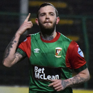 At double: Darren Murray laps up the praise at The Oval