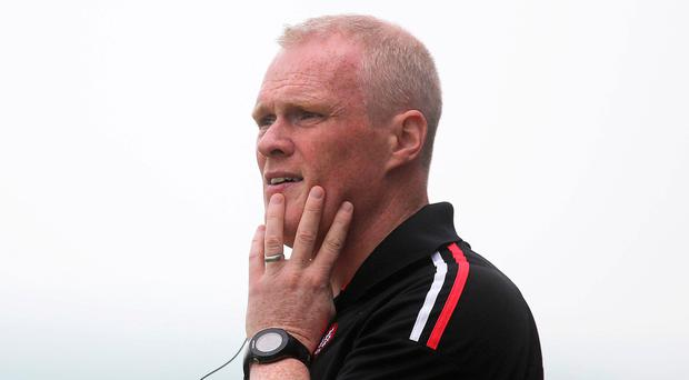 In form: Damian McErlain hopes Derry can keep firing