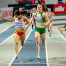 Euro effort: Ciara Mageean crosses the line to win bronze last night